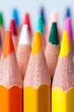 De potloden van de kleur Sluit omhoog Stock Fotografie