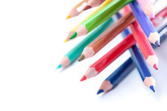 De potloden van de kleur Sluit omhoog Stock Afbeelding