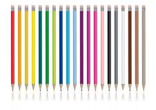 De potloden van de kleur - Vectorbeeld Stock Afbeelding
