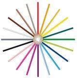 De potloden van de kleur - Vectorbeeld Stock Afbeeldingen