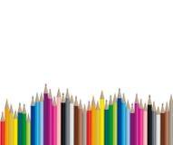 De potloden van de kleur - Vectorbeeld Royalty-vrije Stock Foto's