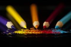 De potloden van de kleuring Royalty-vrije Stock Afbeeldingen