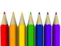 De potloden van de kunst Stock Fotografie