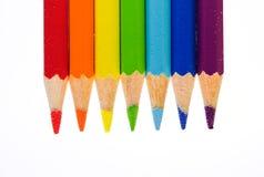 De potloden van de regenboog Royalty-vrije Stock Foto