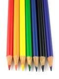 De potloden van de regenboog Stock Afbeelding