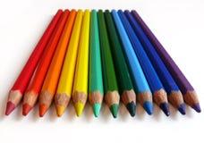 De potloden van de regenboog Stock Afbeeldingen