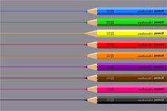 De potloden van de tekening royalty-vrije illustratie