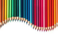 De potloden van de kleur die op witte achtergrond worden geïsoleerdu royalty-vrije stock foto's