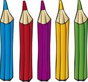 De potloden van kleurpotloden Royalty-vrije Stock Foto