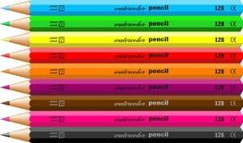 De potloden van Watercolour stock illustratie