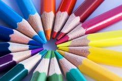 De potlodenmacro van de kleur Stock Afbeeldingen