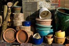 De potten van de installatie. stock foto's