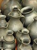 De potten van de klei Royalty-vrije Stock Afbeeldingen