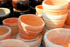 De potten van de klei Stock Foto's
