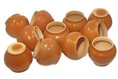 De potten van de klei. Geïsoleerd. Royalty-vrije Stock Afbeelding