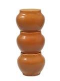 De potten van de klei. Geïsoleerd. Royalty-vrije Stock Foto