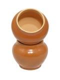 De potten van de klei. Geïsoleerd. Royalty-vrije Stock Afbeeldingen