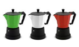 De potten van de koffie Stock Afbeeldingen