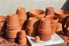 De potten van de terracottaklei Stock Foto