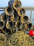 De potten van de zeekreeft in Brighton royalty-vrije stock afbeeldingen