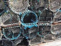 De potten van de zeekreeft in Brighton Royalty-vrije Stock Foto's