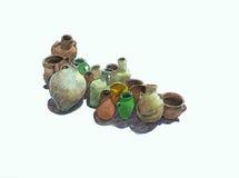 De potten van het aardewerk Stock Foto's