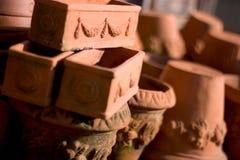 De potten van het terracotta Royalty-vrije Stock Afbeeldingen