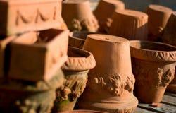 De potten van het terracotta Stock Foto