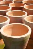 De Potten van het terracotta Stock Afbeelding