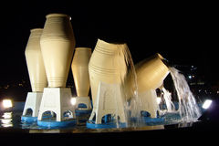 De Potten van het water, Doha, Qatar stock afbeelding