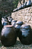 De potten van Kimchi royalty-vrije stock fotografie