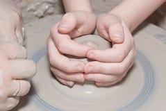 De pottenbakkerswiel van de verwezenlijking Royalty-vrije Stock Fotografie
