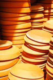 De pottenschotels van de terracottabloem Royalty-vrije Stock Afbeeldingen