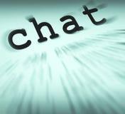 De praatjedefinitie toont het Online Mededeling of Tekst Spreken vector illustratie