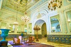 De pracht van Golestan-paleis, Teheran royalty-vrije stock foto's