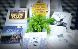De prachtig verfraaide boeken in de boekbibliotheek Stock Afbeelding