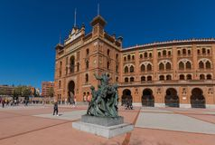 De prachtige Arena van Las Ventas van Madrid, Spanje royalty-vrije stock foto's