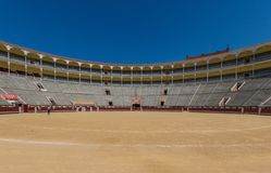 De prachtige Arena van Las Ventas van Madrid, Spanje stock foto's