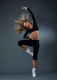 De prachtige ballerina danst elegant Royalty-vrije Stock Foto's