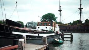 De prachtige de bootzomer van Duitsland wather stock video