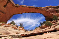 De prachtige brug van de rotsvorming Royalty-vrije Stock Afbeeldingen