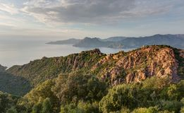 De prachtige kreken van Piana in Corsica Frankrijk royalty-vrije stock afbeelding