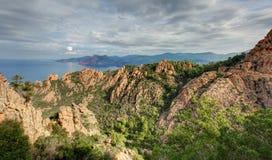 De prachtige kreken van Piana in Corsica Frankrijk royalty-vrije stock fotografie