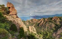 De prachtige kreken van Piana in Corsica Frankrijk stock afbeelding