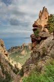 De prachtige kreken van Piana in Corsica Frankrijk royalty-vrije stock foto