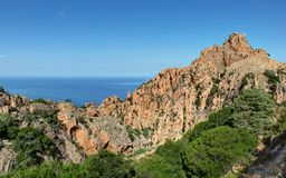 De prachtige kreken van Piana in Corsica Frankrijk royalty-vrije stock foto's