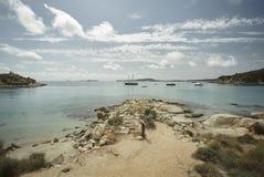 De prachtige kusten van Sardinige stock foto