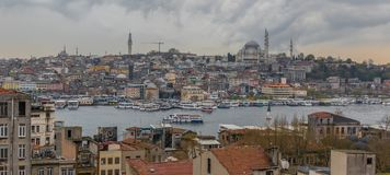 De prachtige Oude Stad Istanboel, Turkije stock afbeelding