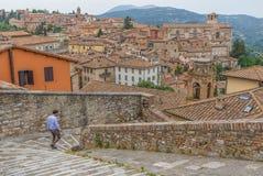 De prachtige Oude Stad van Perugia, Italië stock fotografie