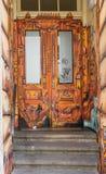 De prachtige de straatschilderijen van Dresden vector illustratie